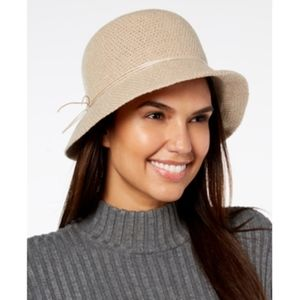 INC International Concepts Hatch-Weave Cloche Hat